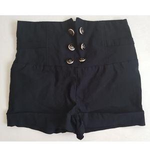 Seductions High Waisted Sailor Shorts